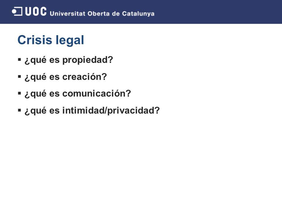 Crisis legal ¿qué es propiedad.¿qué es creación. ¿qué es comunicación.