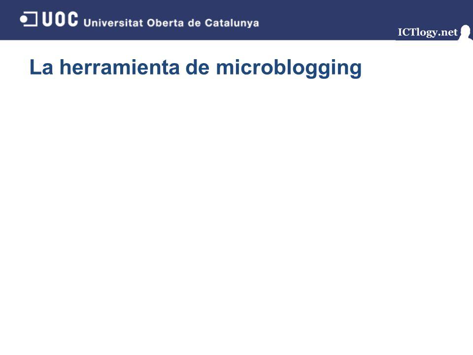 La herramienta de microblogging 14/43