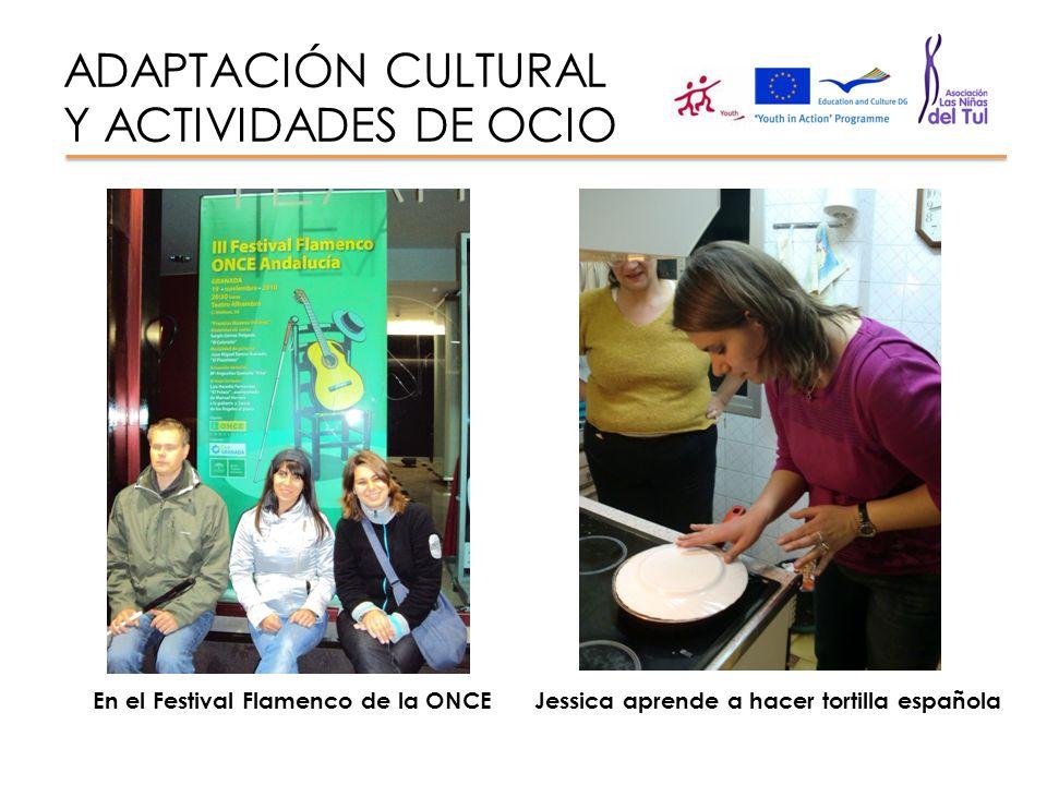 ADAPTACIÓN CULTURAL Y ACTIVIDADES DE OCIO En el Festival Flamenco de la ONCEJessica aprende a hacer tortilla española