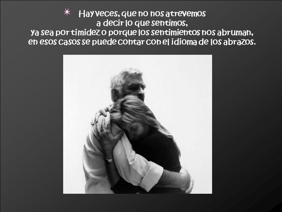 Los abrazos, además de hacernos sentir bien, se emplean para aliviar el dolor, la depresión y la ansiedad.