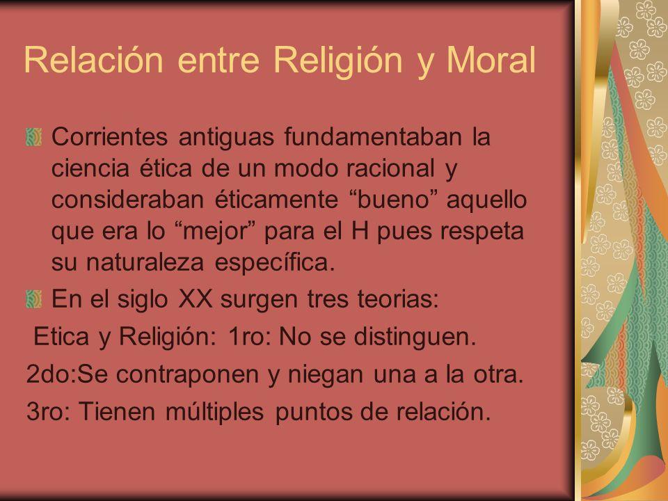 Origen religioso de la moral León XIII: …la moralidad es un elemento que entra como componente en todos los actos humanos, implica necesariamente la existencia de Dios y con la existencia de Dios la de la religión, lazo sagrado cuyo privilegio es unir con anterioridad a todo otro vínculo moral, al hombre con Dios…