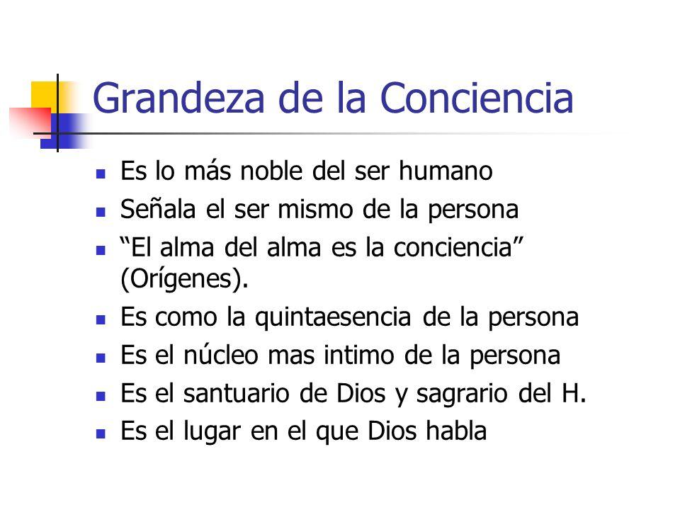 Lo que es la conciencia según Gadium et Spes Sagrario, lo más íntimo de la persona donde Dios habla a cada uno.