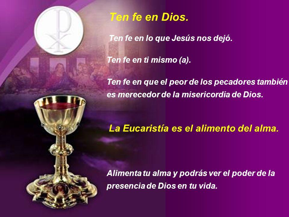 Felices aquellos que creen sin haber visto. (Juan 20,29) La Eucaristía es un regalo de Dios, traído hasta nosotros por Su Hijo Jesucristo. La Eucarist