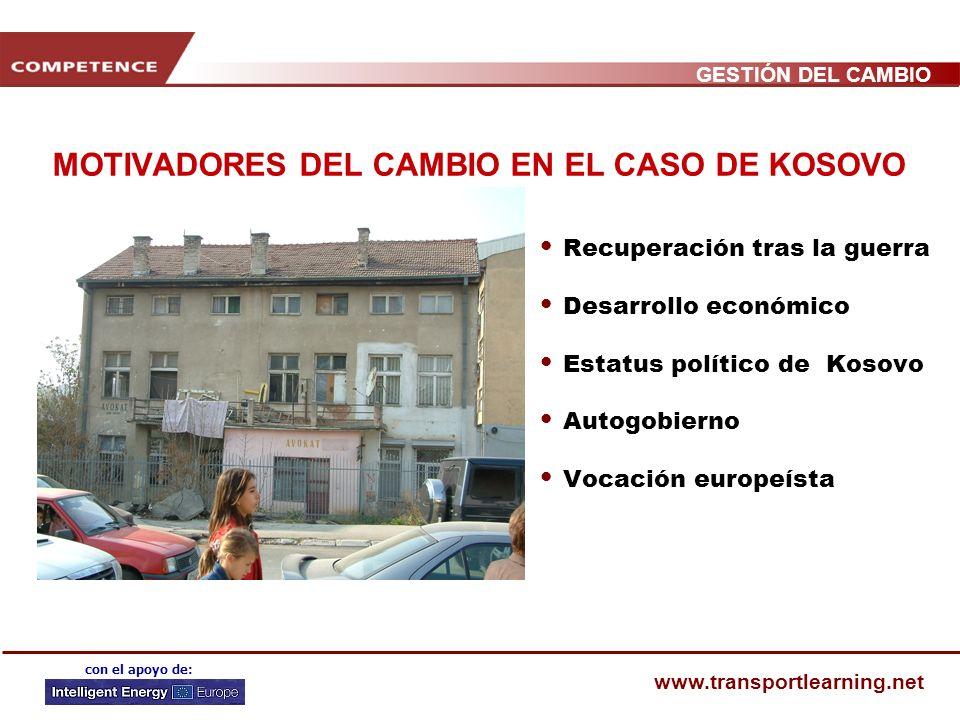 GESTIÓN DEL CAMBIO www.transportlearning.net con el apoyo de: MOTIVADORES DEL CAMBIO EN EL CASO DEL COMPROMISO DE LA MOVILIDAD EN FLANDES Nuevo minist