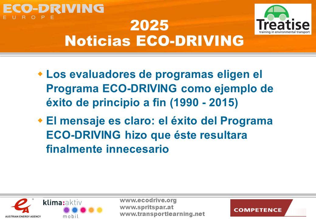 www.ecodrive.org www.spritspar.at www.transportlearning.net 3 temas a debate ¿Puede usted aplicar los conceptos de la Conducción Ecológica en su entorno.