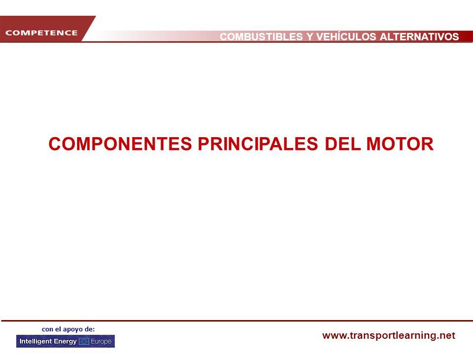 COMBUSTIBLES Y VEHÍCULOS ALTERNATIVOS www.transportlearning.net con el apoyo de: COMPONENTES PRINCIPALES DEL MOTOR