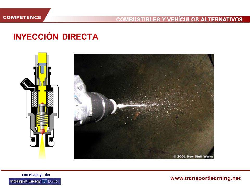 COMBUSTIBLES Y VEHÍCULOS ALTERNATIVOS www.transportlearning.net con el apoyo de: INYECCIÓN DIRECTA