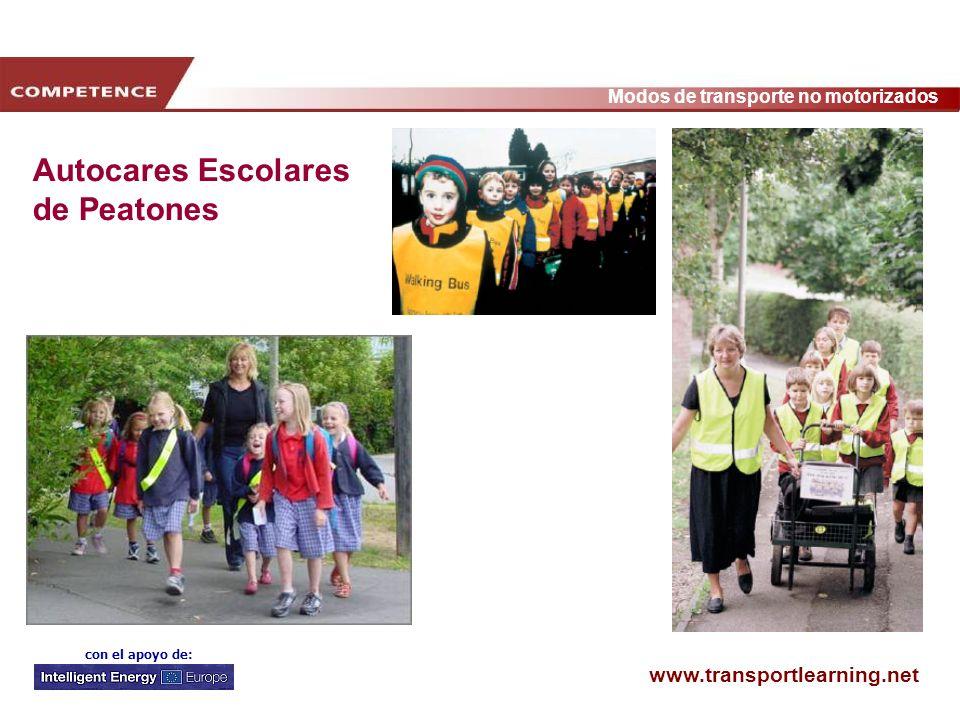 www.transportlearning.net Modos de transporte no motorizados con el apoyo de: Autocares Escolares de Peatones