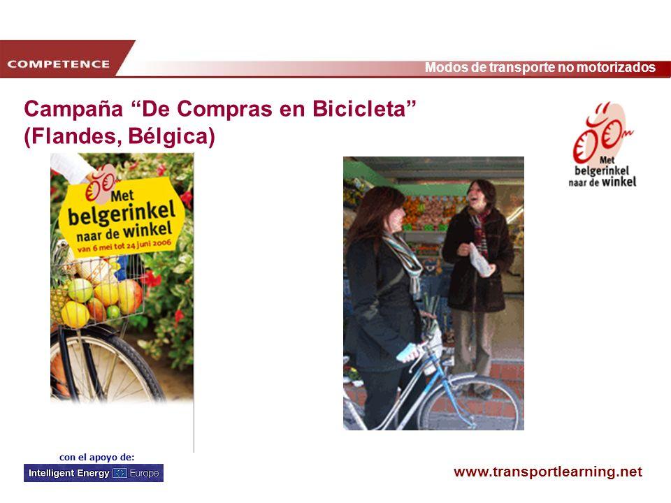 www.transportlearning.net Modos de transporte no motorizados con el apoyo de: Campaña De Compras en Bicicleta (Flandes, Bélgica)