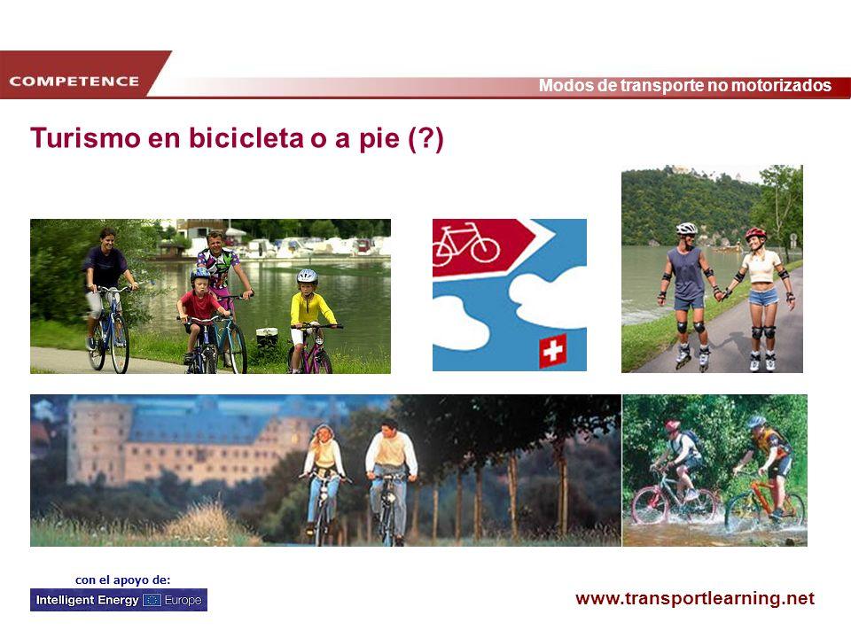 www.transportlearning.net Modos de transporte no motorizados con el apoyo de: Turismo en bicicleta o a pie (?)