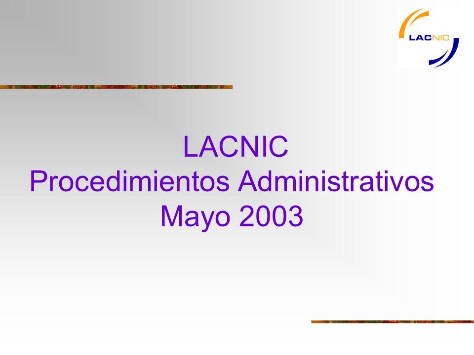 LACNIC Procedimientos Administrativos Mayo 2003