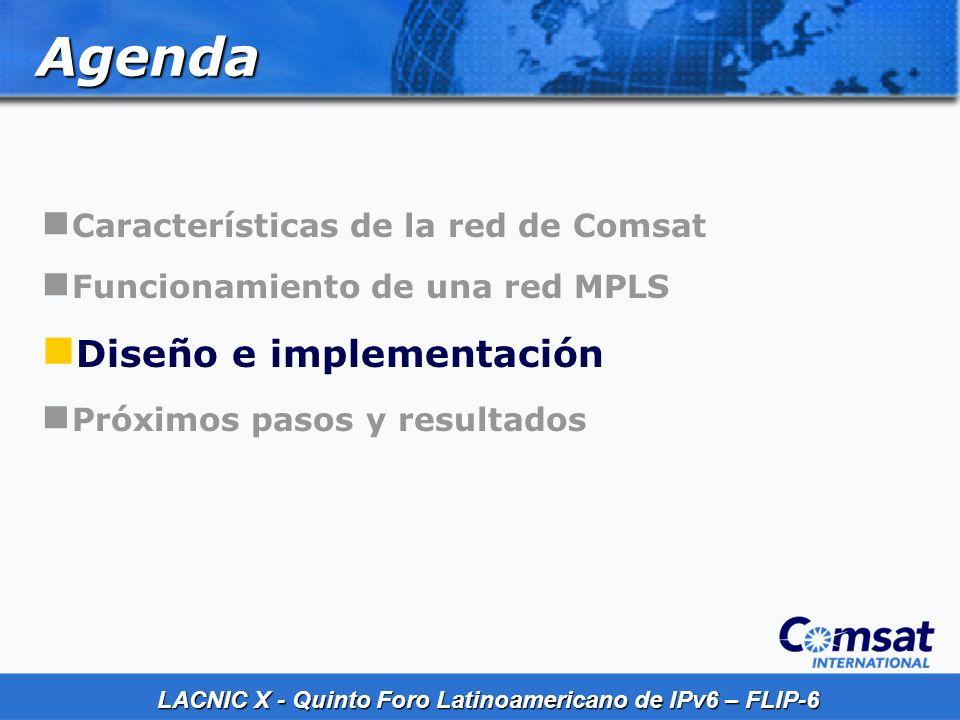 LACNIC X - Quinto Foro Latinoamericano de IPv6 – FLIP-6 Diseño Sistema Operativo IPv6 (IOS Feature 6PE) Actualizaciones en Routers PE y RR Routers P no requieren actualizaciones de software, de hardware o cambios en la configuración
