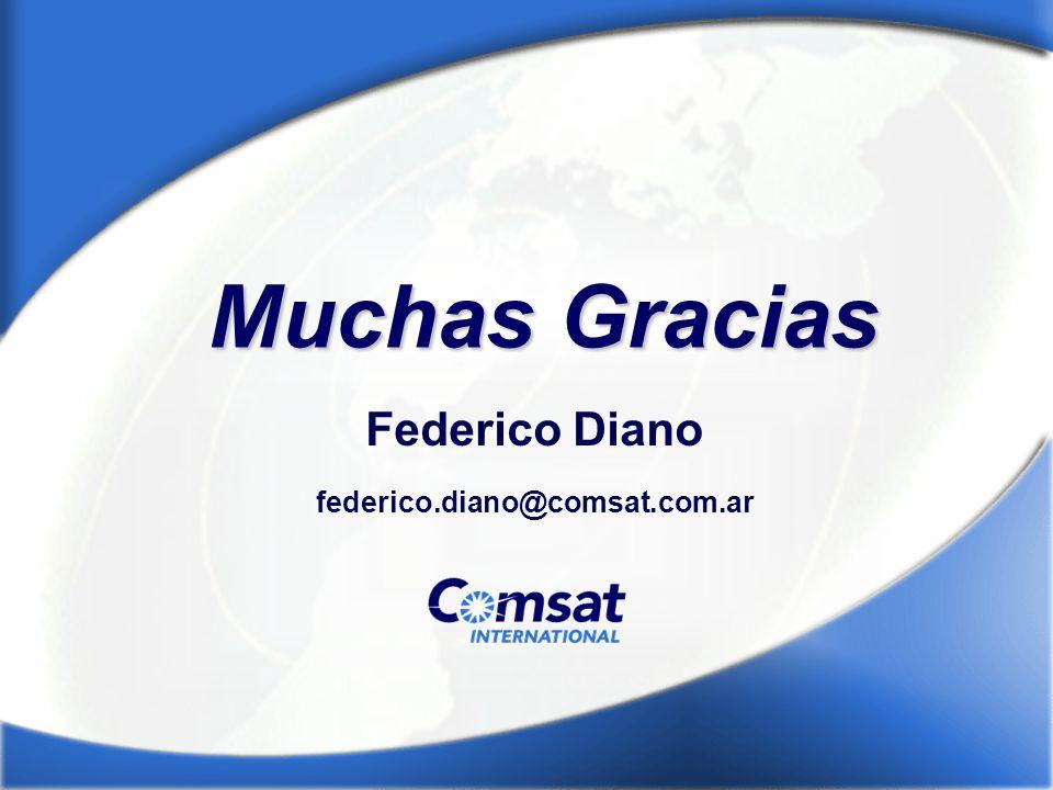 Muchas Gracias Federico Diano federico.diano@comsat.com.ar