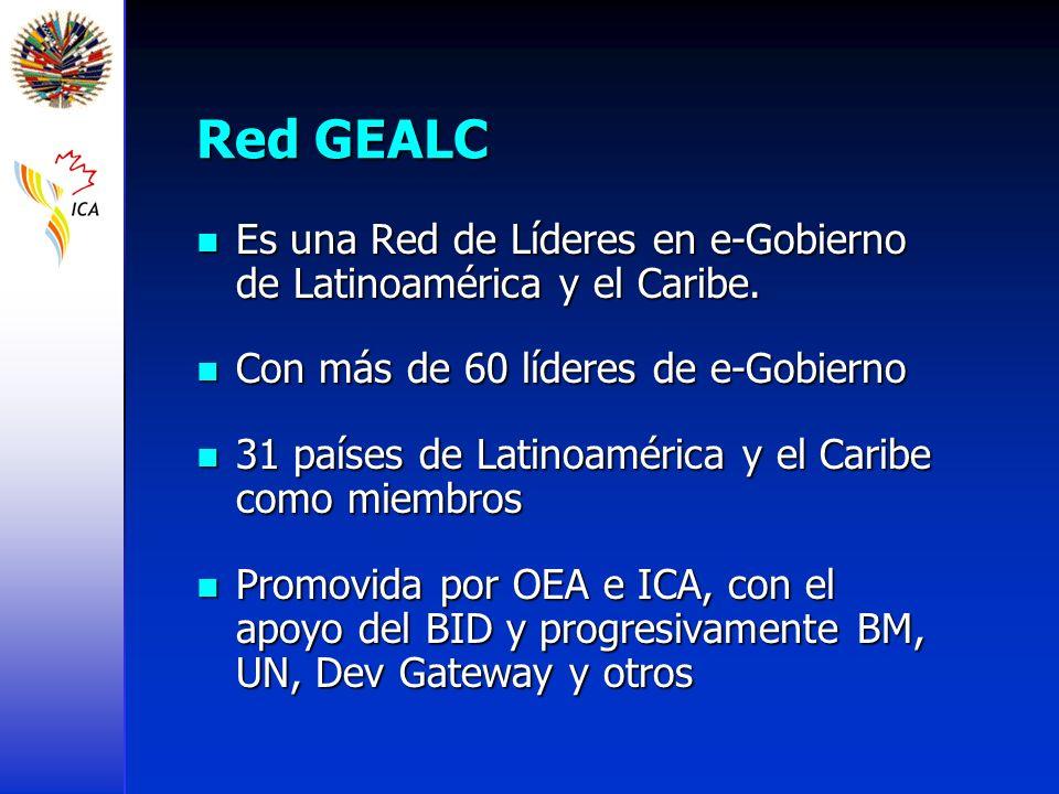 Red GEALC Es una Red de Líderes en e-Gobierno de Latinoamérica y el Caribe. Es una Red de Líderes en e-Gobierno de Latinoamérica y el Caribe. Con más