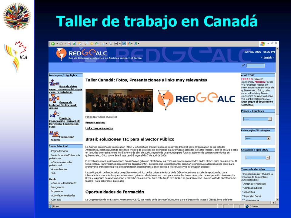 Taller de trabajo en Canadá