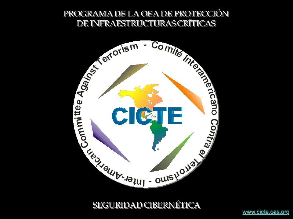 PROGRAMA DE LA OEA DE PROTECCIÓN DE INFRAESTRUCTURAS CRÍTICAS SEGURIDAD CIBERNÉTICA www.cicte.oas.org