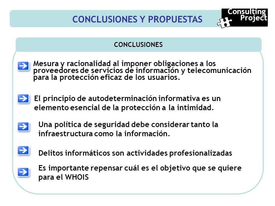 CONCLUSIONES Y PROPUESTAS CONCLUSIONES Mesura y racionalidad al imponer obligaciones a los proveedores de servicios de información y telecomunicación