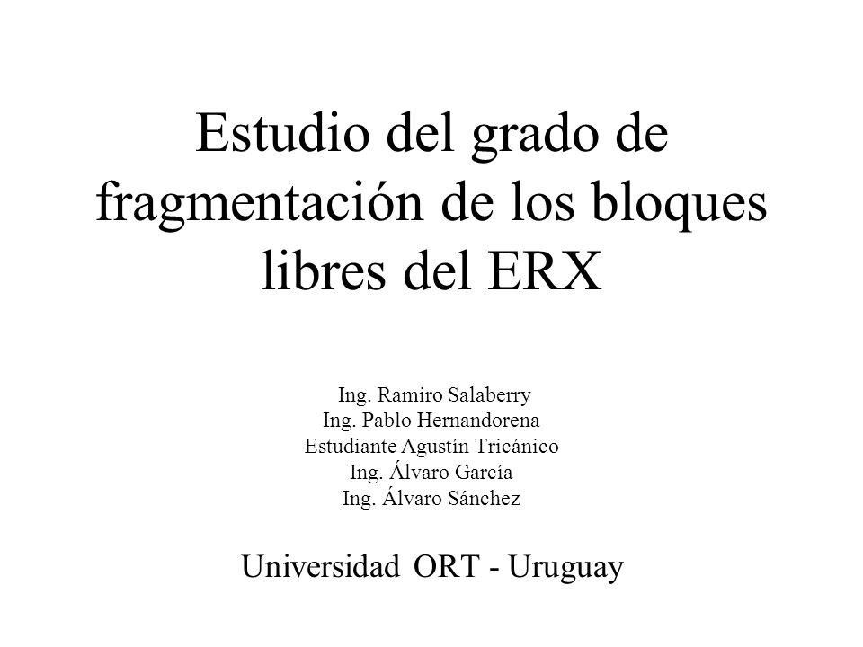 Estudio del grado de fragmentación de los bloques libres del ERX Ing.