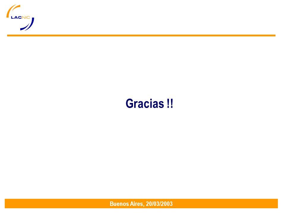 Buenos Aires, 20/03/2003 Gracias !!