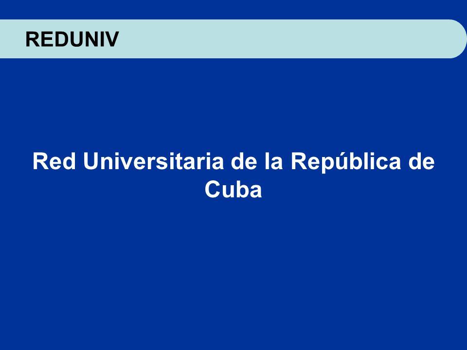 Red Universitaria de la República de Cuba REDUNIV