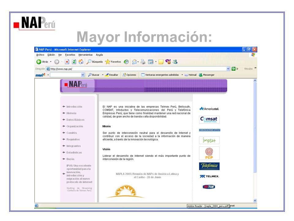 Mayor Información: