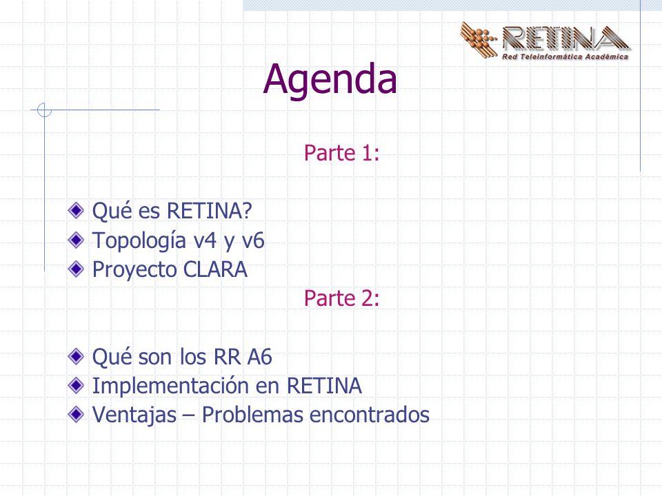 Agenda Parte 1: Qué es RETINA.