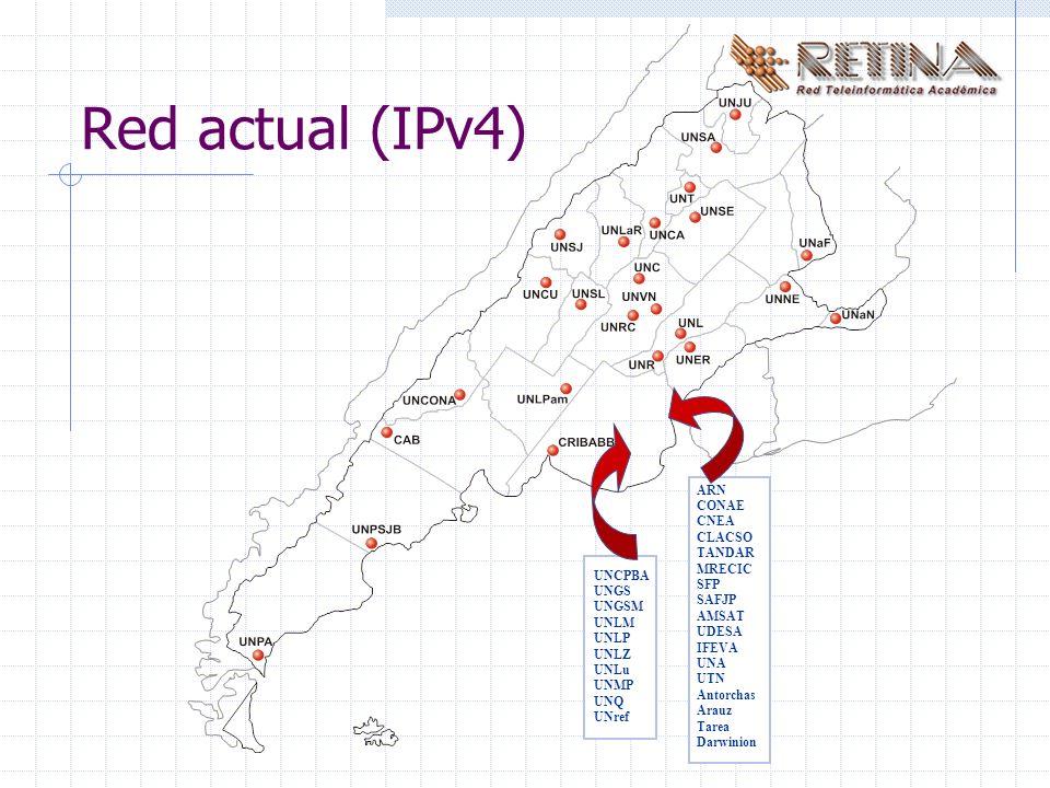 Referencias: www.isc.org/products/BIND/bind9.html www.isc.org/ml-archives/bind9-users/2000/07/msg00025.html http://resin.csoft.net/cgi-bin/man.cgi?section=8&topic=lwresd www.arsys.es/soporte/productos/guia/dns.htm www.ietf.org/rfc/rfc1034.txt www.ietf.org/rfc/rfc1035.txt Agradecimientos: Se agradece al personal técnico de RETINA por la colaboración en la experimentación e implementación del protocolo IPv6.