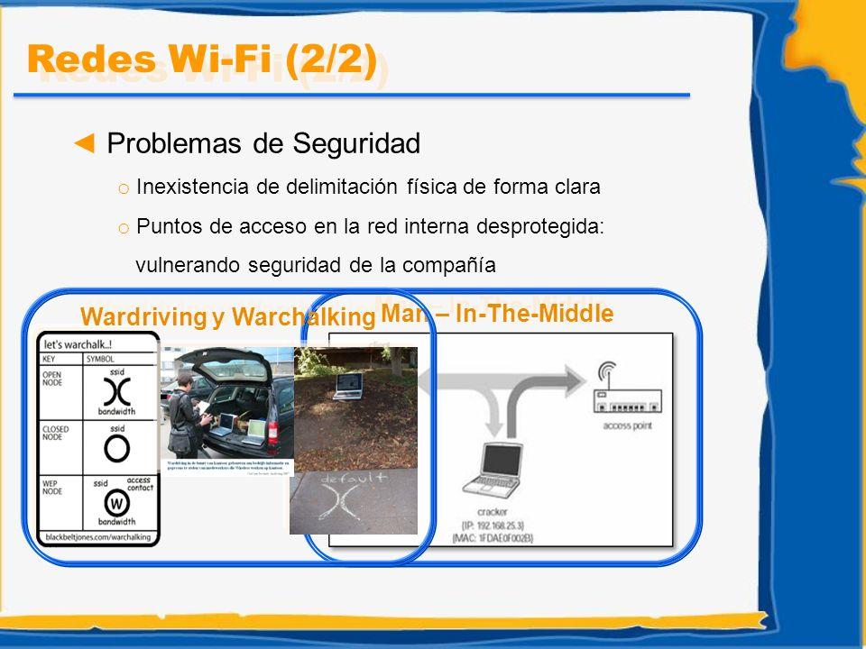 Problemas de Seguridad o Inexistencia de delimitación física de forma clara o Puntos de acceso en la red interna desprotegida: vulnerando seguridad de