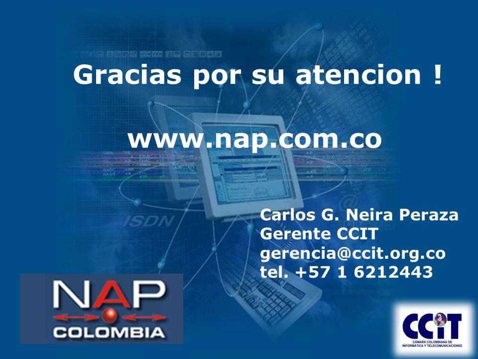 Gracias por su atencion . www.nap.com.co Carlos G.