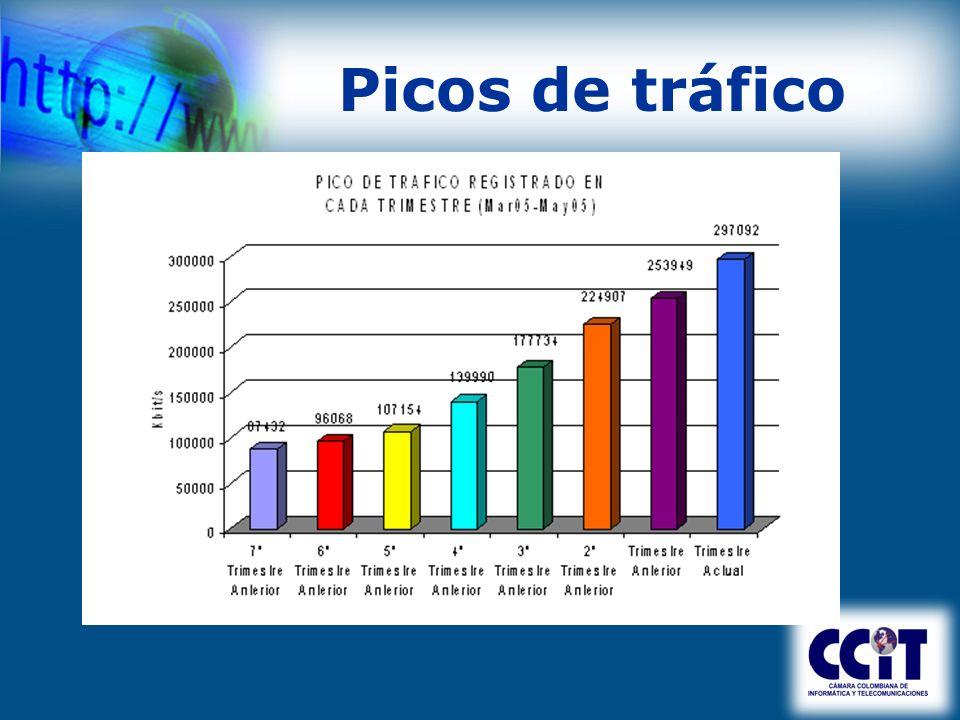 Desafíos latentes 2004 Upgrade a Gigabit Estadísticas capa 3 Nuevos miembros y/o expansión nacional Promoción de Hosting en Colombia Representación miembros –SPAM y delitos informáticos –TLC - Capitulo de Propiedad Intelectual
