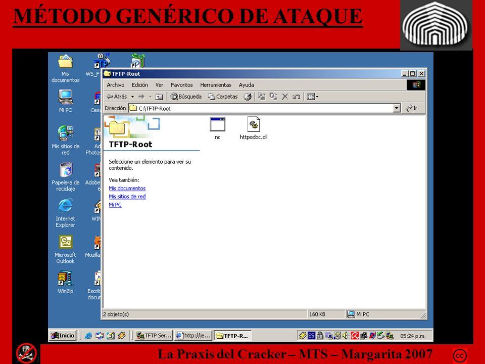 MÉTODO GENÉRICO DE ATAQUE La Praxis del Cracker – MTS – Margarita 2007