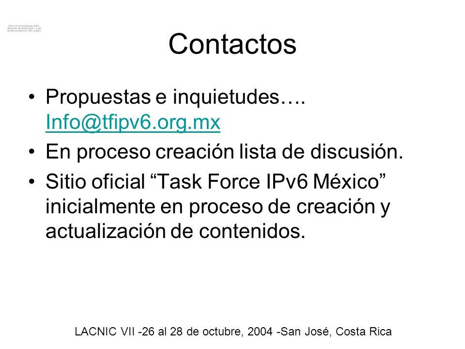Preguntas. LACNIC VII -26 al 28 de octubre, 2004 -San José, Costa Rica Harold de Dios Tovar
