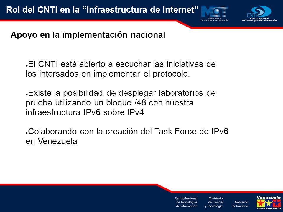 El CNTI está abierto a escuchar las iniciativas de los intersados en implementar el protocolo. Existe la posibilidad de desplegar laboratorios de prue