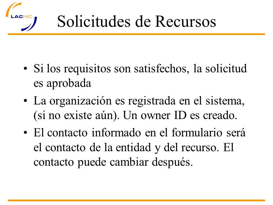 Solicitudes de Recursos IPv4 - ISP List all IP blocks already allocated/assigned to you organization 4a.