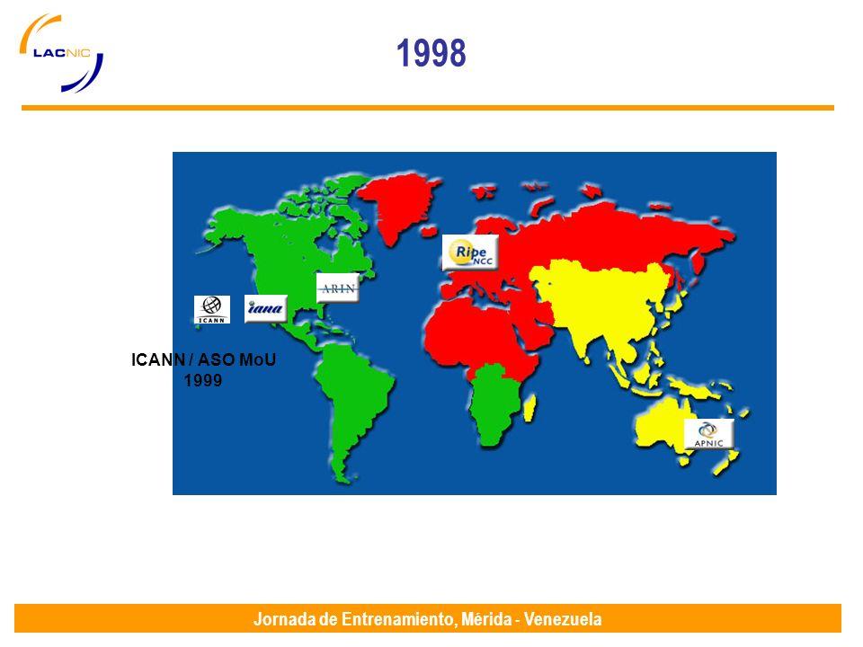 Jornada de Entrenamiento, Mérida - Venezuela 1998 ICANN / ASO MoU 1999