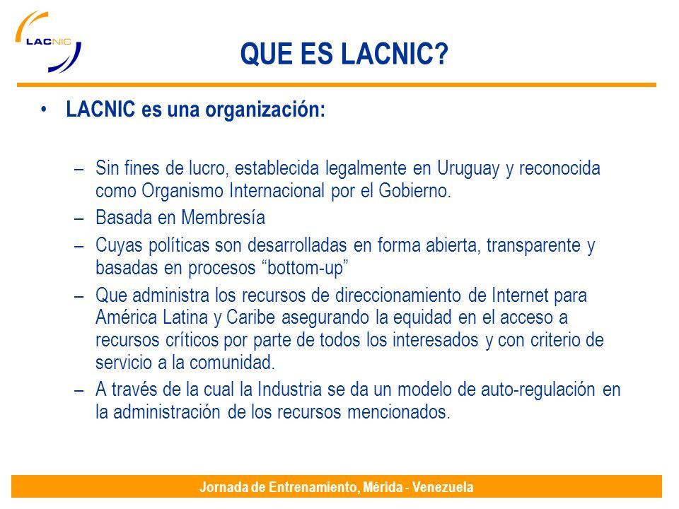 Jornada de Entrenamiento, Mérida - Venezuela QUE ES LACNIC.