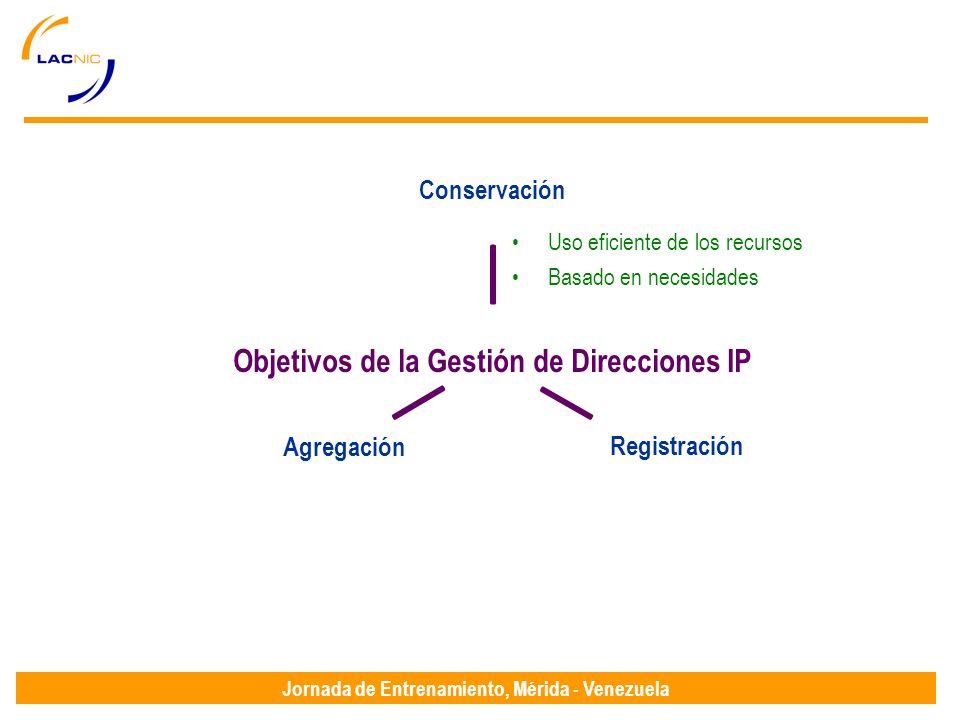 Jornada de Entrenamiento, Mérida - Venezuela Uso eficiente de los recursos Basado en necesidades