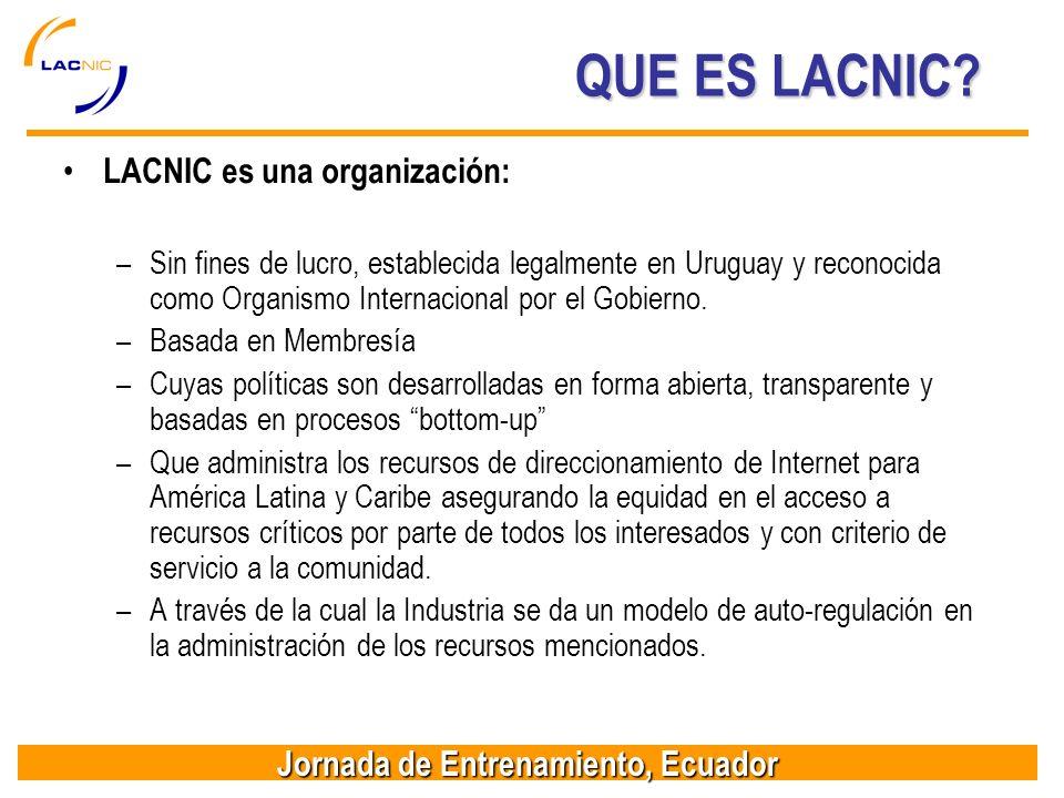 Jornada de Entrenamiento, Ecuador QUE ES LACNIC.