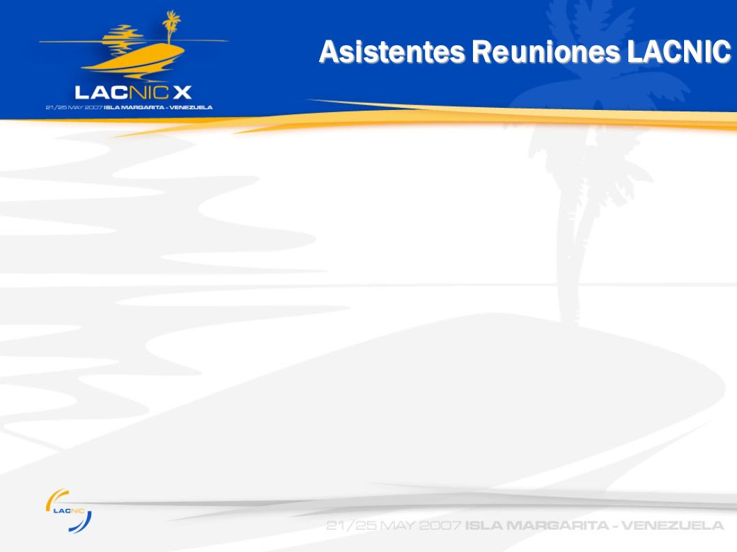 Asistentes Reuniones LACNIC