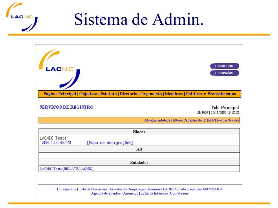 Sistema de Admin.