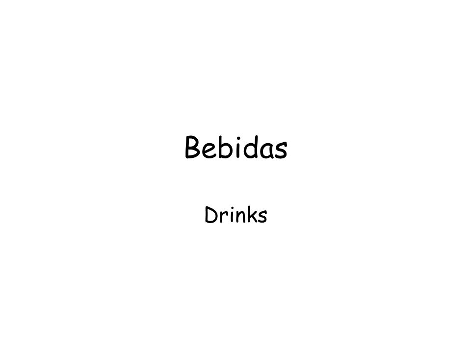 Bebidas Drinks