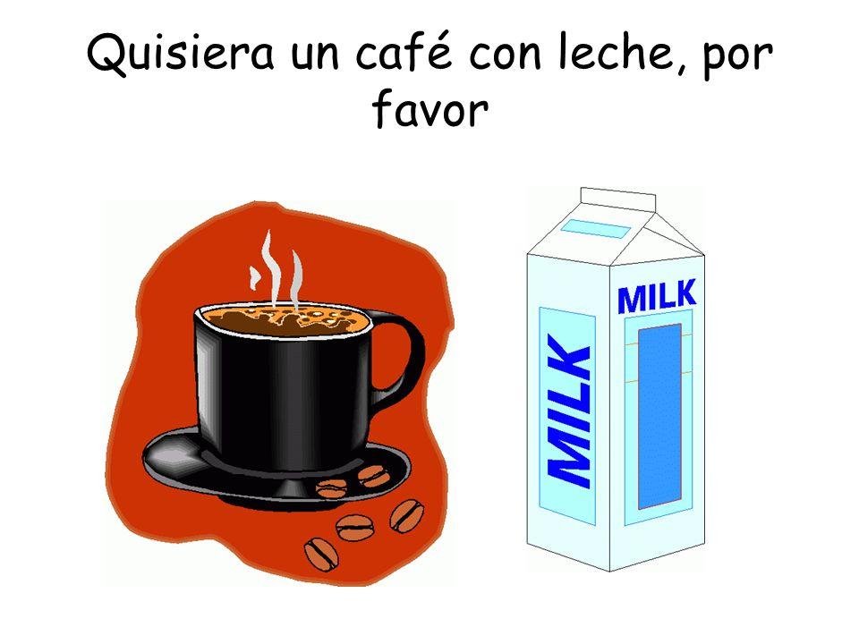 Quisiera un café con leche, por favor