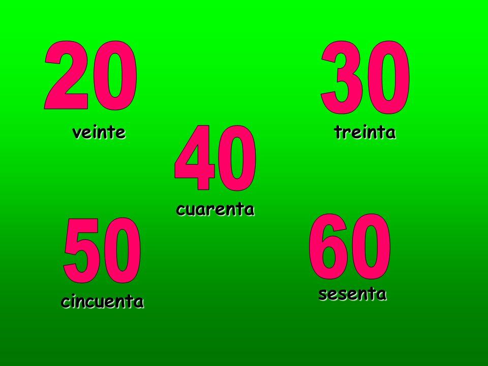 veintetreinta cuarenta cincuenta sesenta