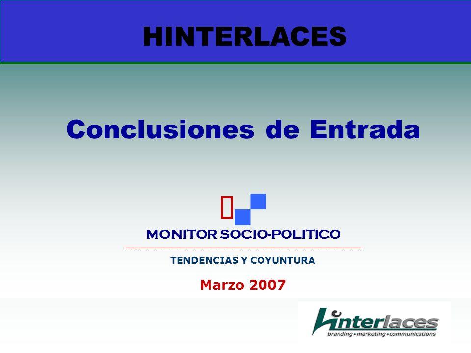 HINTERLACES Conclusiones de Entrada MONITOR SOCIO-POLITICO __________________________________________________________________________________________ TENDENCIAS Y COYUNTURA Marzo 2007
