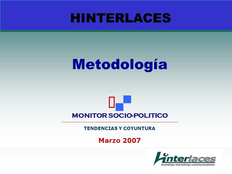 HINTERLACES Metodología MONITOR SOCIO-POLITICO __________________________________________________________________________________________ TENDENCIAS Y COYUNTURA Marzo 2007