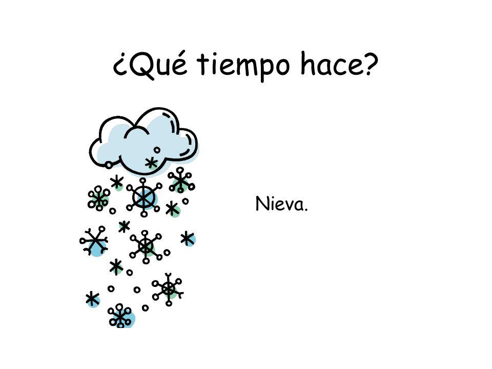 ¿Qué tiempo hace? Nieva.