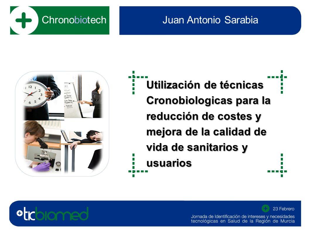 Chronobiotech Juan Antonio Sarabia Utilización de técnicas Cronobiologicas para la reducción de costes y mejora de la calidad de vida de sanitarios y usuarios fotografía o imagen del sector