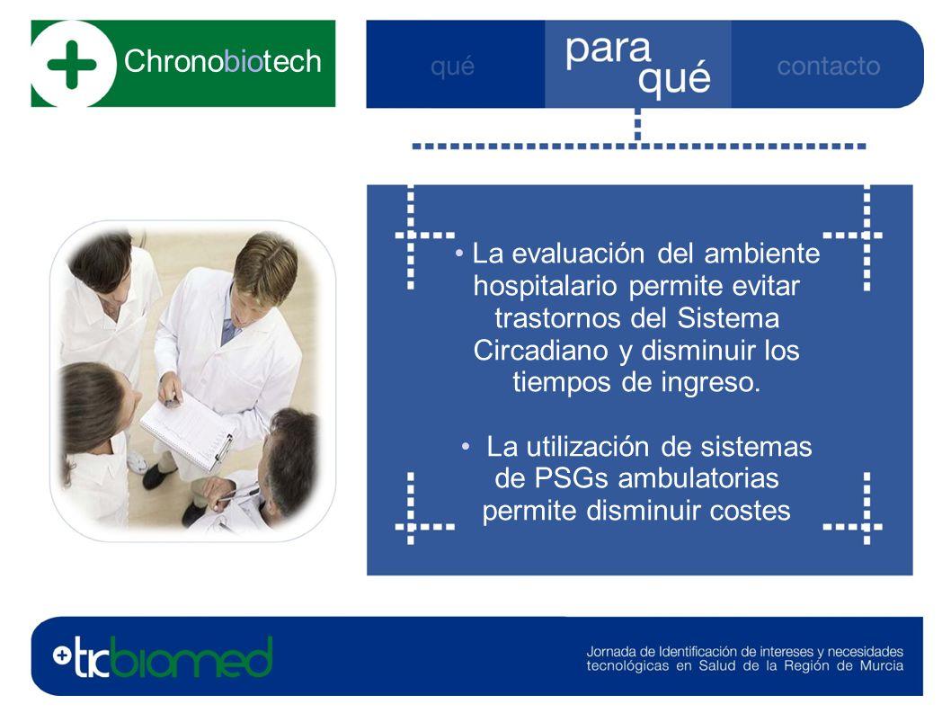 La evaluación del ambiente hospitalario permite evitar trastornos del Sistema Circadiano y disminuir los tiempos de ingreso.
