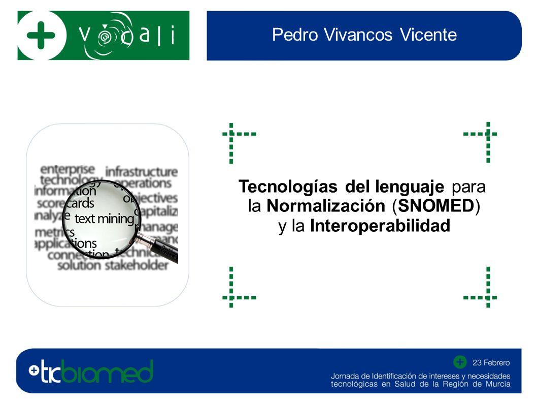 Pedro Vivancos Vicente Tecnologías del lenguaje para la Normalización (SNOMED) y la Interoperabilidad fotografía o imagen del sector