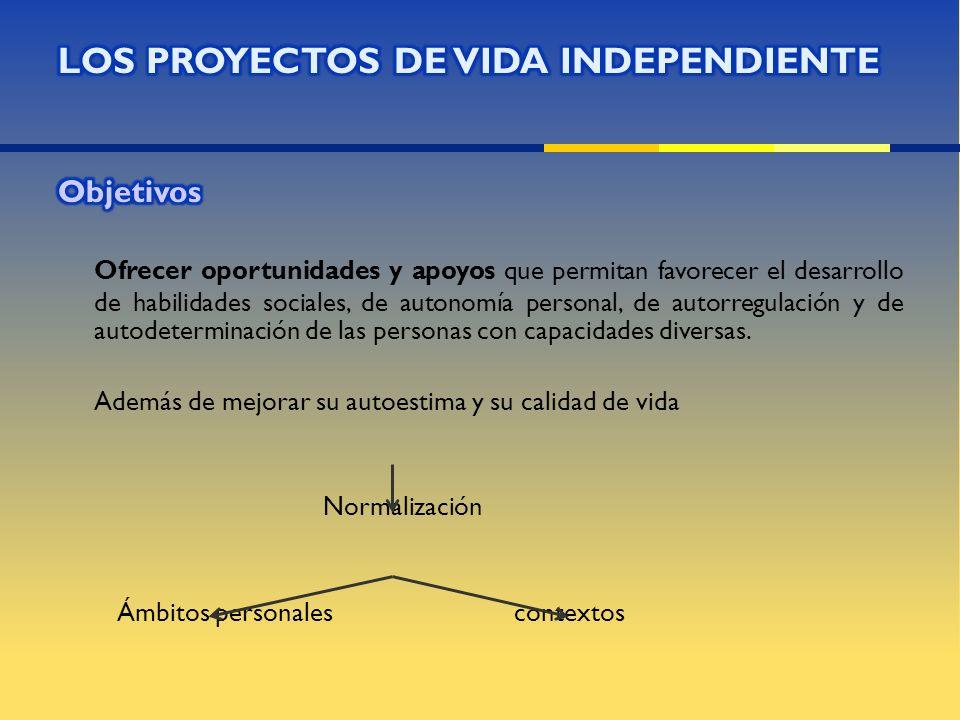 Empleo. Vivienda independiente, con apoyo. Participación ciudadana. Formación permanente.